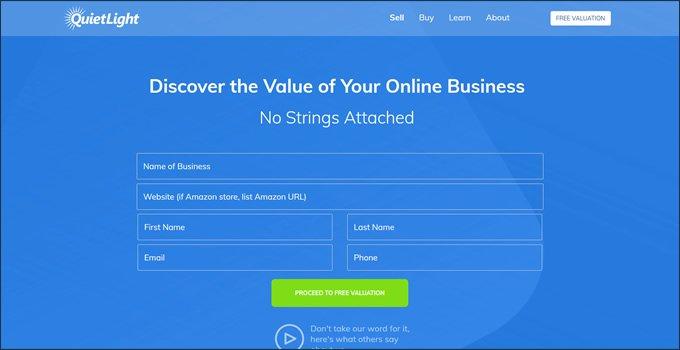 Quiet Light Brokerage Valuation Process