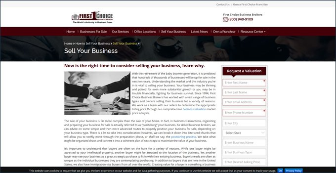 broker valuation process