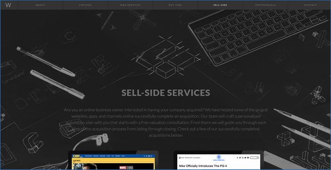 sell-side services